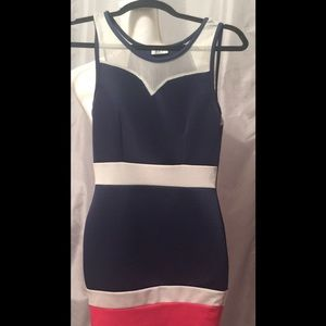 Blue S.Sell/Contact Sz.M polyester/spandex dress